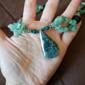 Jade mayan necklace